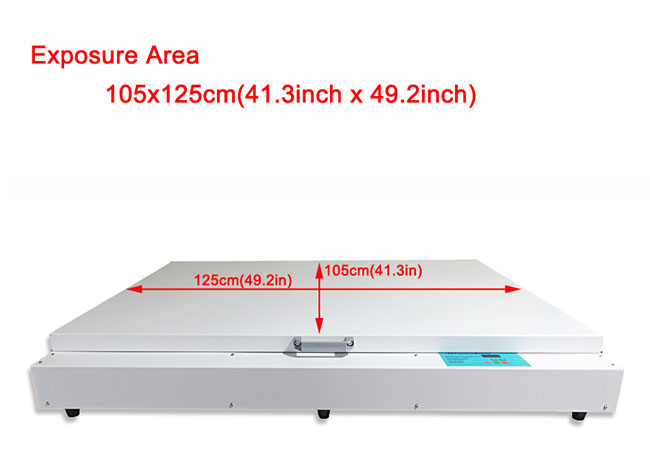 "Big Desktop 41.3""x 49.2"" 240W LED UV Exposure Unit Screen Printing Exposure Machine(图3)"