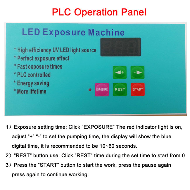 "Big Desktop 41.3""x 49.2"" 240W LED UV Exposure Unit Screen Printing Exposure Machine(图6)"